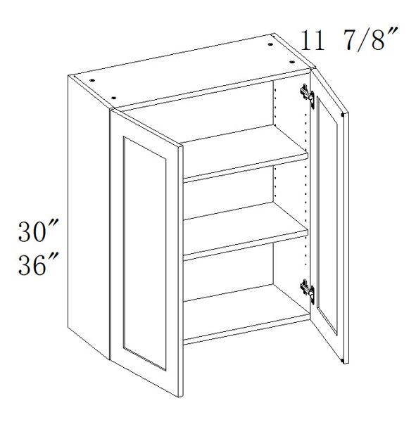 "Picture of Wall Cabinets 24""W"